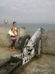 Cannon facing Pangul Bay