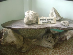 one of the items inside the museum