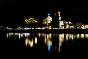 Striking Baclayon Church at night