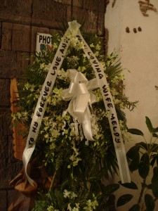 Flowers from his widow; we went there last Oct 31.