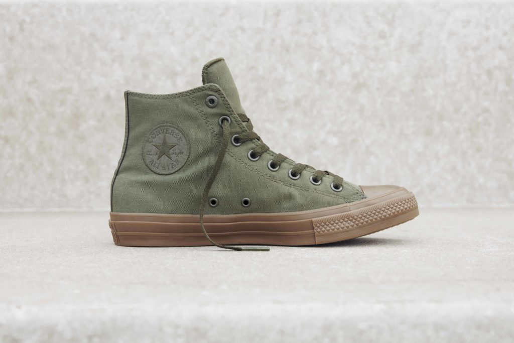 Converse Chuck Taylor All Star II Gumsole Hi in herbal.