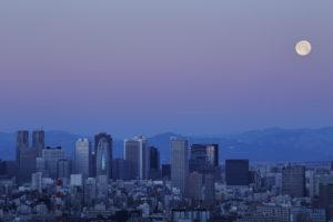 Tokyo skyline views at dusk