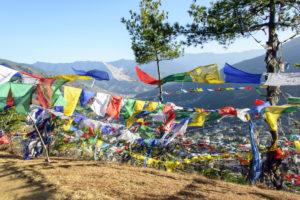 View onto Thimphu City